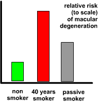the risk of smoking and passive smoking and ARMD